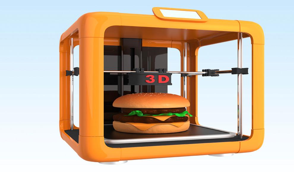 3D printing hamburger