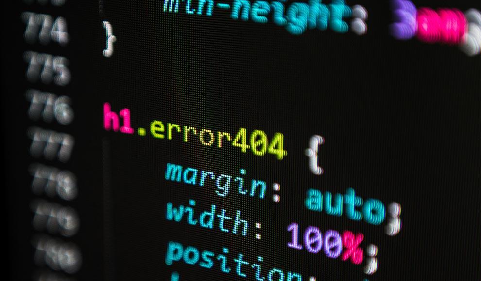 css code - stock image
