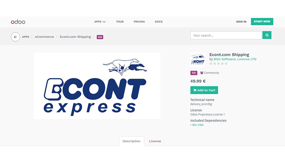 Odoo Econt express app