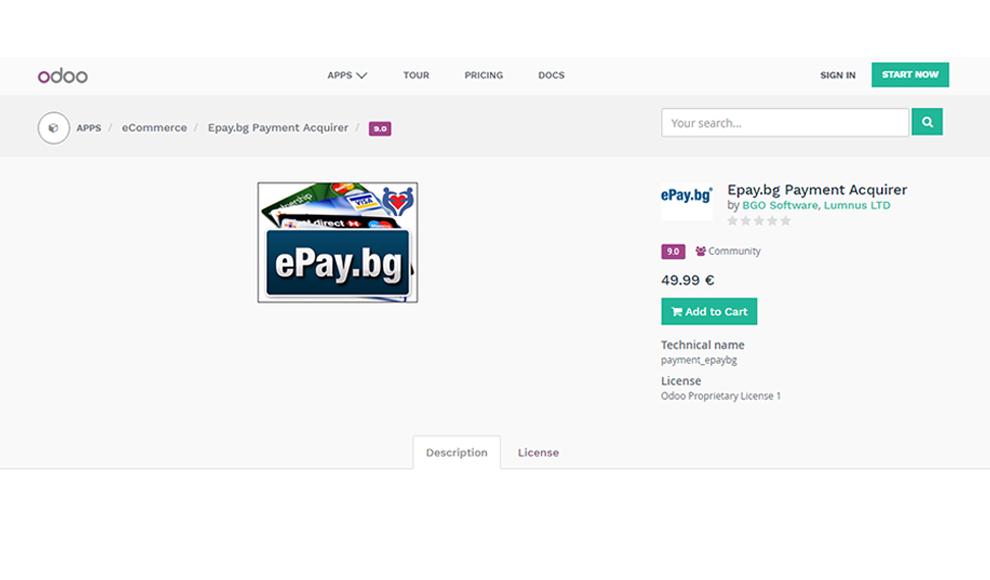 Odoo ePay app