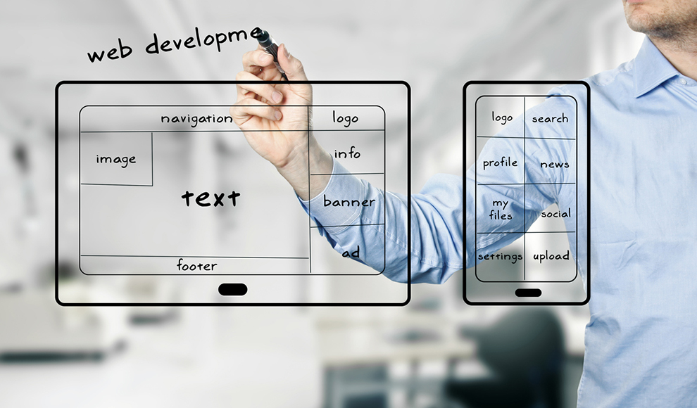 web development visual explanation